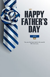 #20 Fathers Day Card Tie